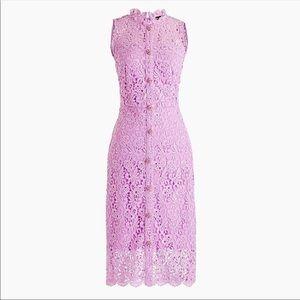 Jcrew retail Guipure lace sheath dress lilac